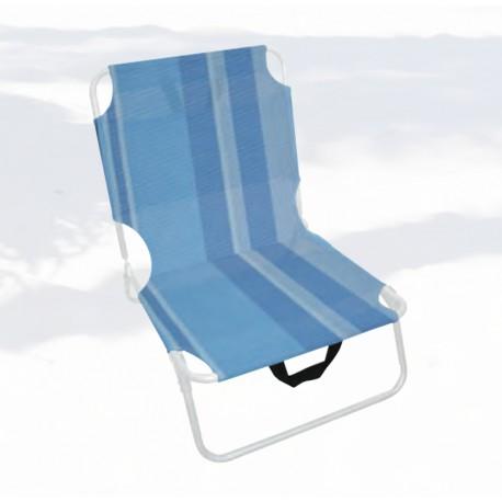 CHAISE DE CAMPING - CHAISE DE PLAGE turquoise CALDO textilne adjust 2 plis